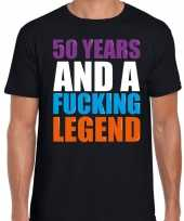 Year legend jaar legende cadeau t-shirt zwart heren 10198499
