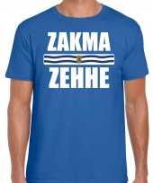 Zakma zehhe vlag zeeland t-shirts zeeuws dialect blauw heren