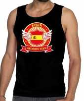Zwart spain drinking team tanktop mouwloos shirt heren